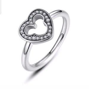 S925 Mickey CZ ring!!